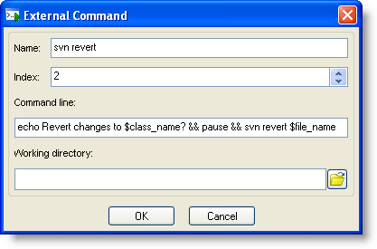 Confirmable svn update command