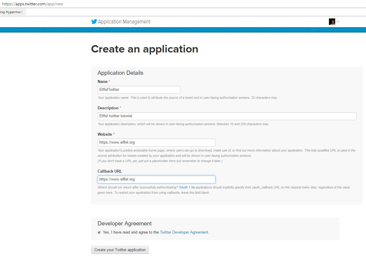 twitter's api authentication